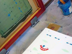 Getting ready for Le Free Market de Paname! 3 days of intensive screen printing at Atelier 54 fils au cm in Toulouse :)  2014 © Joanna Wiejak