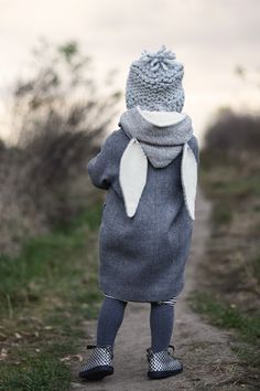 How about a Cozy Winter Hood from Little Things to Sew with bunny ears?