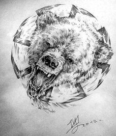 Bear tattoo design.