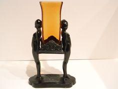 Frankart F604 Nude Vase with Steuben Insert