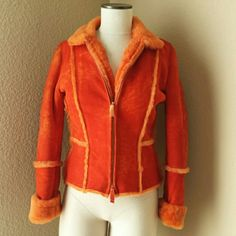ARTICO shearling orange coat from Italy Halloween ARTICO shearling coat made exclusively in Italy (Difficult to locate in US outside of NY) ◾European size 42 (Xsmall-Small) ◾Color is a pure orange ◾In preloved condition, no damage - coloring varies in some places - that's how it was purchased ARTICO Jackets & Coats