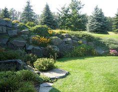 boulder retaining wall | Boulder Retaining Wall | Flickr - Photo Sharing!