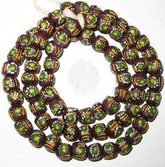 African fancy Krobo handmade Powderglass beads