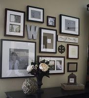 love the whimsy with all the different shapes of frames!