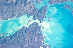 "50 shades of blue"" in the #Australian waters #Australia #Volare pic.twitter.com/LUKafnlK2d Mouth of Calder River (from left), Onad Island, -16.372521,124.449005, in the Kimberley region of Western Australia. Picture: Astronaut Luca Parmitano"