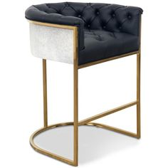 Corfu Bar and Counter Stool in Leather
