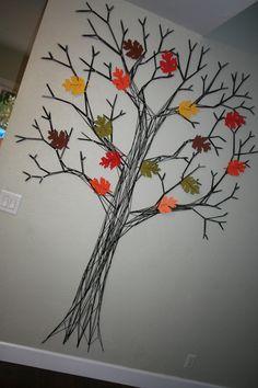 Thankful String Tree | Thanksgiving Craft - Popsicle Blog