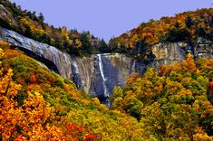 Hickory Nut Falls at Chimney Rock State Park ...next to Lake Lure, NC