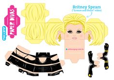 3d Paper Crafts, Paper Toys, Paper Art, Paper Divas, Paper Folding, Game Character, Britney Spears, Jumping Jacks, Scream