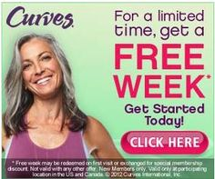 Free One Week Pass To Curves Women's Gym!