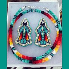 Sold!!! @iskwew2005 the new owner #ariwitebeadwork #nativeamericanbeadwork