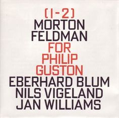 Morton Feldman album cover