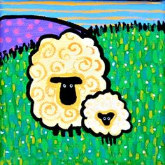 Baby Lamb and Sheep by AliceinParis on Etsy