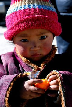 Lhasa-Tibet. I want to borrow this child for an afternoon.