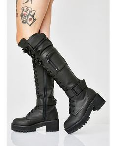 Noir Jaune et Talon Bottier Talon Lacets Biker Combat Bottines Compensées Chaussures