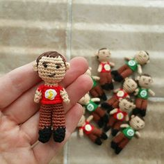 Micro Sheldon Doll from The Big Bang Theory - Free Amigurumi Pattern here: http://www.amidorablecrochet.ca/2015/05/micro-sheldon-pattern.html#.VWtybkbD_EO