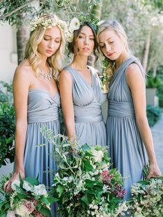 dusty blue convertible bridesmaid dresses