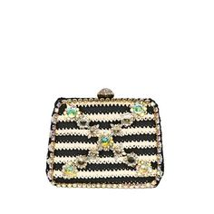 Moschino Cheap Bijoux Crochet Cotton Rigid Clutch ($1,114) ❤ liked on Polyvore