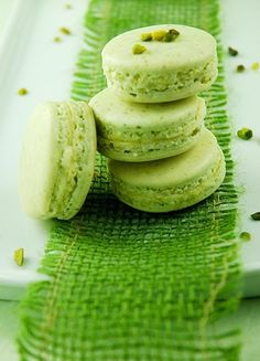 macarons mint thyme vanilla white chocolate herbal macaron delicious for holidays, events, and more recipe click