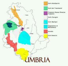 Italian wine regions : Umbria