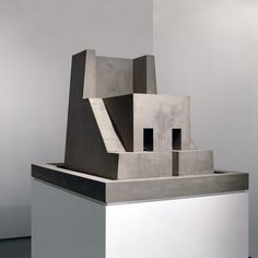 Atrium II, by artist Renato Nicolodi  concrete and wood, 2007  98 x 72 x 155 cm