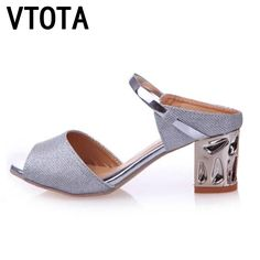 >> Click to Buy << VTOTA Shoes Woman Sandals Fashion Bling Open Toe Sandals Women Cow Musde Comfortable Cut-outs Women High-Heeled Shoes  X471 #Affiliate