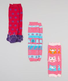 """Leg warmers this darling will create quite the buzz.Cotton and spandex make these outfit additions comfy and soft, perfect for pairing under any ensemble for extra panache and warmth!Includes three pairs of leg warmers12"""" L80% cotton / 18% nylon / 2% nylonHand wash; dry flatImported"""
