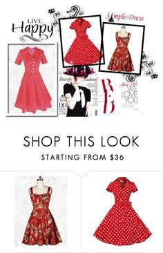 """""""SimpleDress 19"""" by red-rose-girl ❤ liked on Polyvore featuring vintage"""
