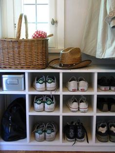 """DIY Shoe Cubby! A real shoe cubby tutorial - not one of those """"settle for this"""" shoe cubby ones... this is the real thing.."""