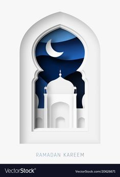 Ramadan kareem abstract paper cut vector image on VectorStock Abstract Paper, 3d Paper Art, Paper Crafts, Paper Cutting, Teachers Day Poster, Folders, Lord Krishna Wallpapers, Eid Cards, Isometric Design