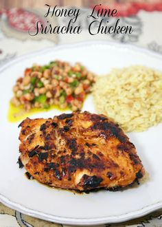 Honey Lime Sriracha Chicken - chicken marinated in honey, lime a sriracha! It's got a little kick!