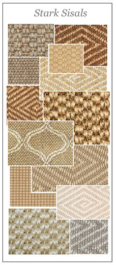 Stark does so much well.  The sisal lines are rugged and geometric and casual.  A designer's dream.