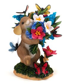 Take a look at this Mouse With a Bouquet Figurine by Charming Tails on #zulily today!