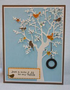 my tree die plus these birds: Memory Box Dies, Resting Birds (Memory Box) SKU: Ellen Hutson Memory Box Cards, Memory Box Dies, Bird Cards, Marianne Design, Handmade Birthday Cards, Paper Cards, Flower Cards, Creative Cards, Scrapbook Cards
