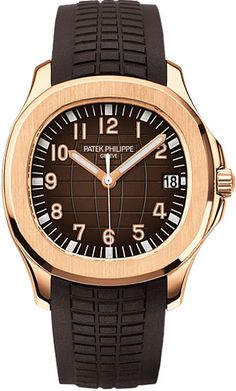 Patek Philippe Aquanaut Brown Dial 18kt Rose Gold Brown Rubber Automatic Mens Watch From JomaShop.com