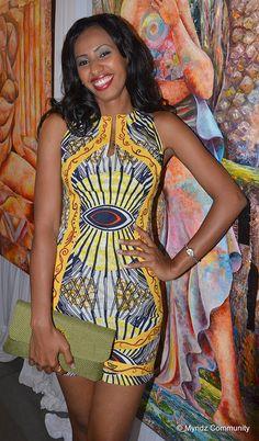 Swahili Fashion Week; Nairobi Showcase - Miss Kenya 2011  Shamim Ali. Contemporary African Womens wear, African Fashion, designed by Patricia Mbela of Poisa (Kenya)