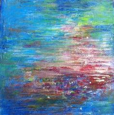 If I didn't already have 2 paintings in my home by this talented artist, I'd snatch this work by @Jenny Vorwaller up--it reminds me of a more vibrant Monet/waterlilies piece...