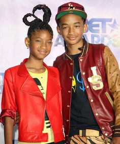 Willow and Jaden Smith, June 2011  Willow and Jaden make a style splash at the BET Awards.