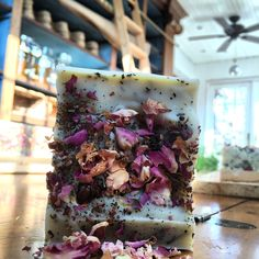 Artisan organic Roses, Patchouli with Peppermint soap bar from batch.organic