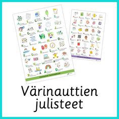 Materiaali - Värinautit Bullet Journal