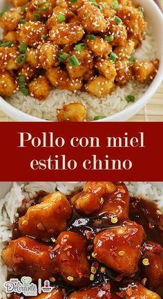Pollo con miel mejor que el del café chino - Bake Tutorial and Ideas Easy Chicken Recipes, Asian Recipes, Mexican Food Recipes, Dinner Recipes, Healthy Recipes, Kitchen Recipes, Cooking Recipes, China Food, Good Food