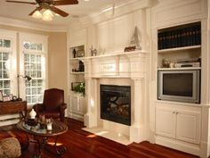 Fireplace and Entertainment Wall Unit provided by Moody Cabinets Benton 72015
