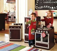 Play kitchen from Pottery Barn Kids. #holiday #gifts