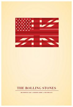 Rolling Stones – Fourth of July Rolling Stones of July poster by Jonathan Caplan Rock Posters, Band Posters, Concert Posters, Music Posters, Best Book Covers, Album Covers, Rock And Roll Bands, Rock N Roll, Concert Rock
