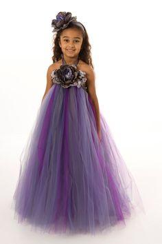 Flower Girl Tutu Dress - Purple - Amethyst Eclipse