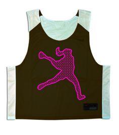Lacrosse Unlimited: Laxgirl Lacrosse Pinnie (Pink LaxGirl) - Custom Pinnies - Clothes - Women