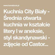 Kuchnia City Biały - Średnia otwarta kuchnia w kształcie litery l w aneksie, styl skandynawski - zdjęcie od Castorama