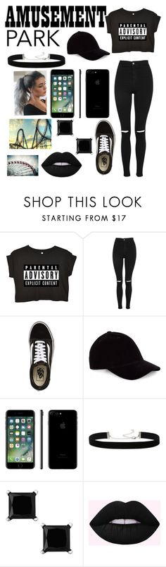 """Untitled #518"" by taco-bell-love ❤ liked on Polyvore featuring Topshop, Vans, 2028, WALL, amusementpark and 60secondstyle"