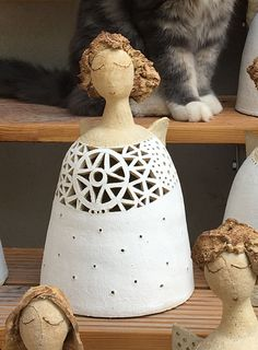 Ceramic Angels, Gourds, Vase, Paper Mache, Crafts, Tutorials, Watch, Decor, Doll