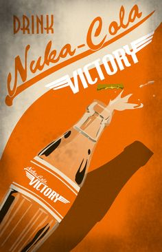 Nuka Cola Victory Advertisement Print by Laggy on Etsy, $16.00